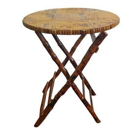 Gentil Bamboo Round Folding Table