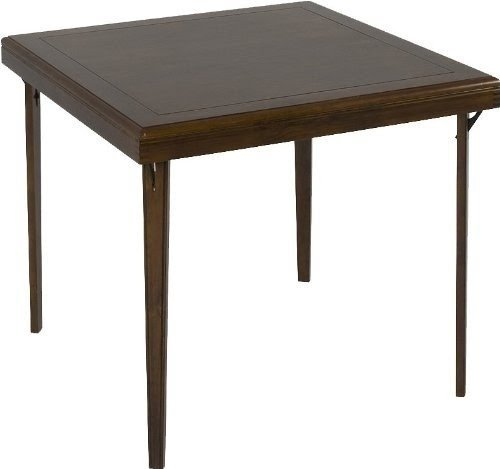 Cosco Folding Wood Table Square with Wood Inlay