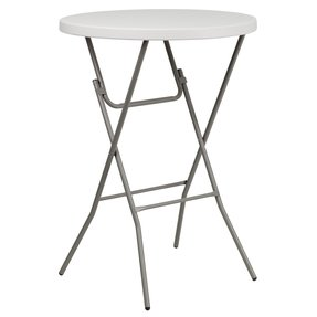 FlashFurniture RB-32RB-BAR-GW-GG 32-Inch Round Granite White Plastic Bar Height Folding Table