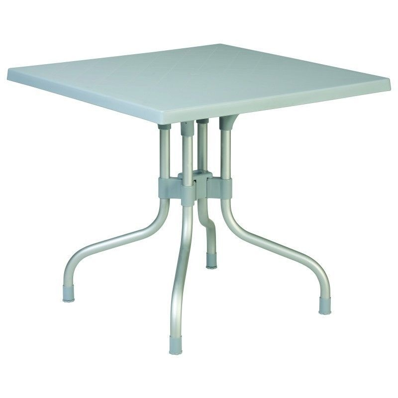 ... Watchthetrailerfo Square Folding Tables Foter Forza Square Folding Table  31 Inch Silver Grey 28h X 31 Watchthetrailerfo ...