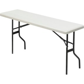 Iceberg 65357, IndestrucTable TOO 1200 Series Resin Folding Table, 18 in.x60 in., Charcoal