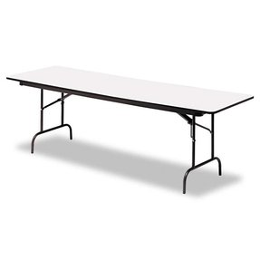"Iceberg ICE55217 Premium Wood Laminate Folding Table with Charcoal Steel Legs, 30"" Length x 60"" Width x 29"" Height, Gray"