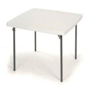 Lifetime 37 Square Folding Table In White Granite Pallet Pack Of
