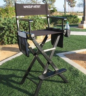 MAKE UP ARTIST TALL DIRECTOR CHAIR-HEAVY-DUTY CONSTRUCTION-High Quality Product-5 YEARS WARRANTY-A BONUS SOLAR RECHARGEABLE LED LIGHT INCLUDED WITH YOUR PURCHASE..