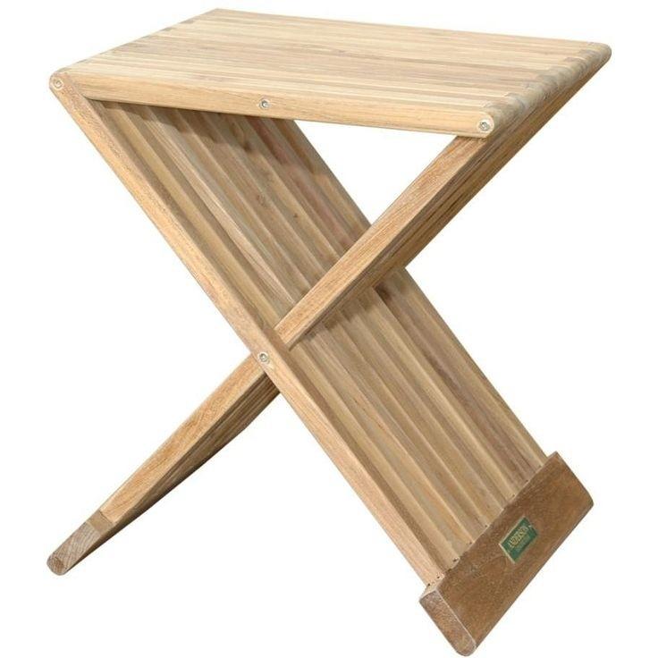 Superbe Solid Teak Side Folding Table