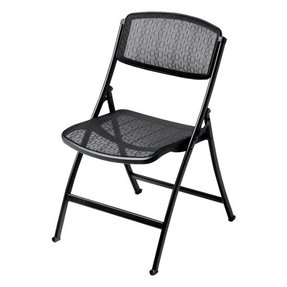 Mity-Lite 1FMBKSBLK00 Mesh-One Folding Chair - Black