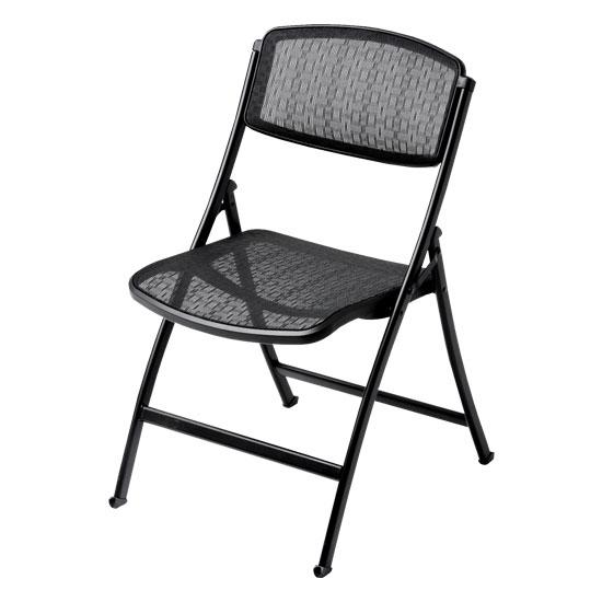 Mity Lite 1FMBKSBLK00 Mesh One Folding Chair   Black
