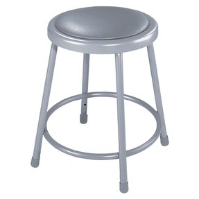 "National Public Seating 6430H Heavy-Duty Padded Stool, 6400 Series, Adjustable Height, 31""-39"" Seat"