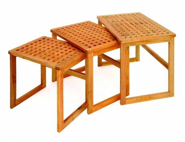 Wood Nesting Tables Set of 3  sc 1 st  Foter & Set Of 3 Nesting Tables - Foter