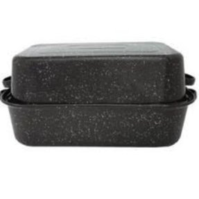 Vintage   Black White Granite Cake Pan