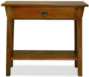 Leick Mission Console Table/Hall Stand, Russet