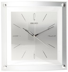 Seiko Wall Clock Quiet Sweep Second Hand Clock Silver-Tone Metallic Case