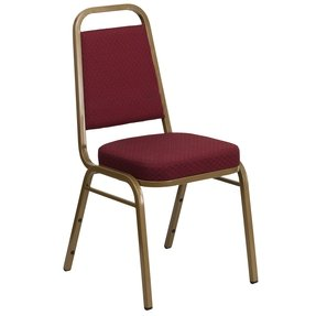 Flash Furniture FD-C01-SILVERVEIN-3169-GG Hercules Series Crown Back Stacking Banquet Chair with Burgundy Fabric Silver Vein Frame