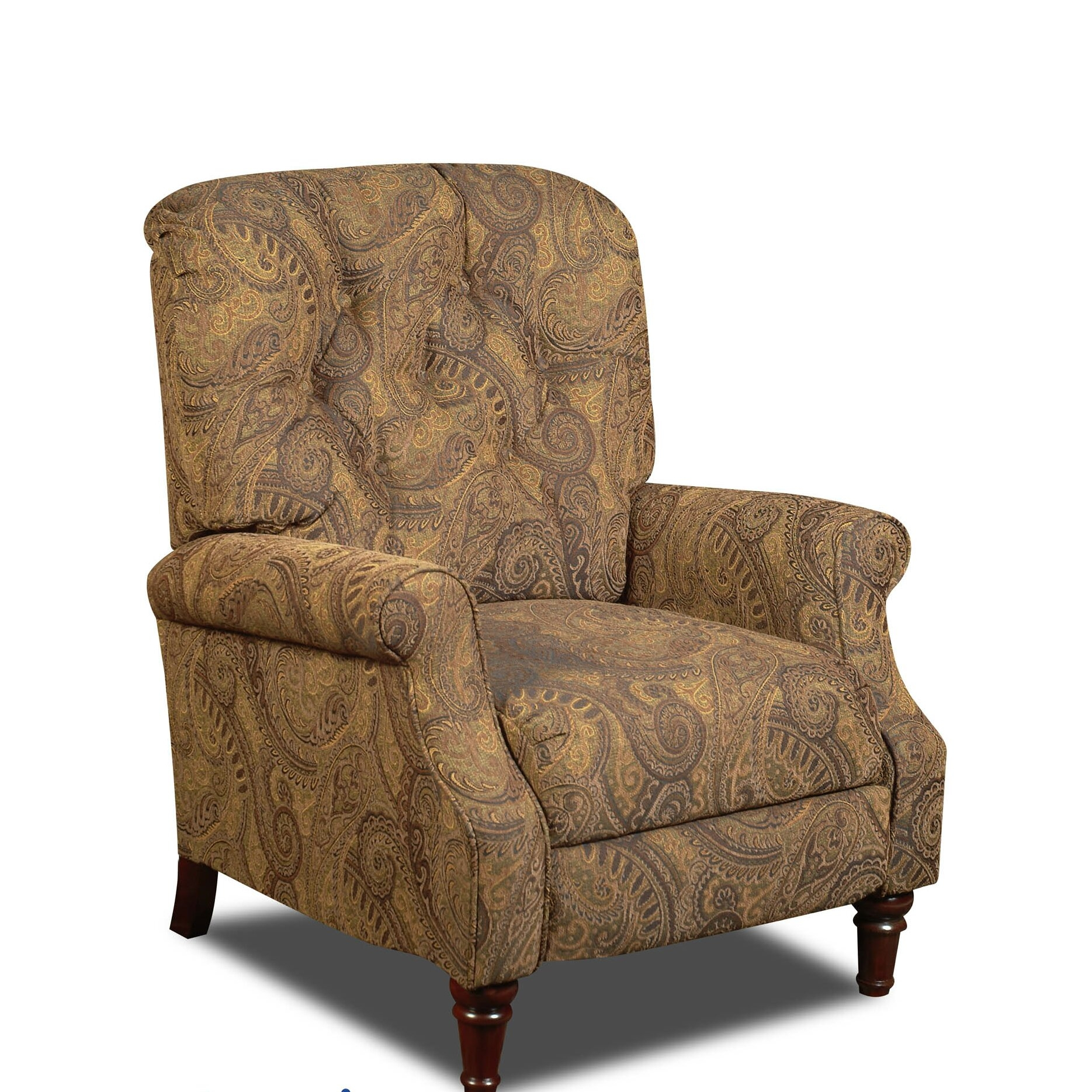 Delicieux Isle Upholstered Hi Leg Recliner Chair In Tobacco