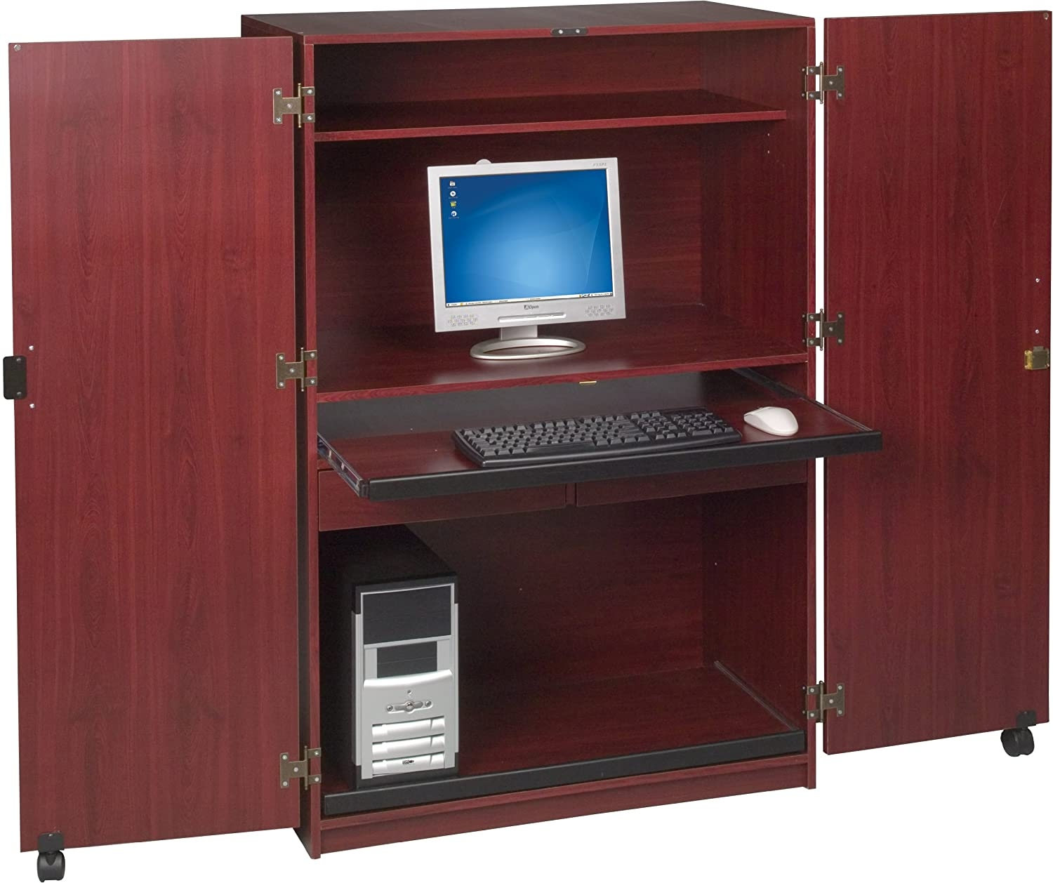 Balt Office In A Box Workstation In A Locking Cabinet
