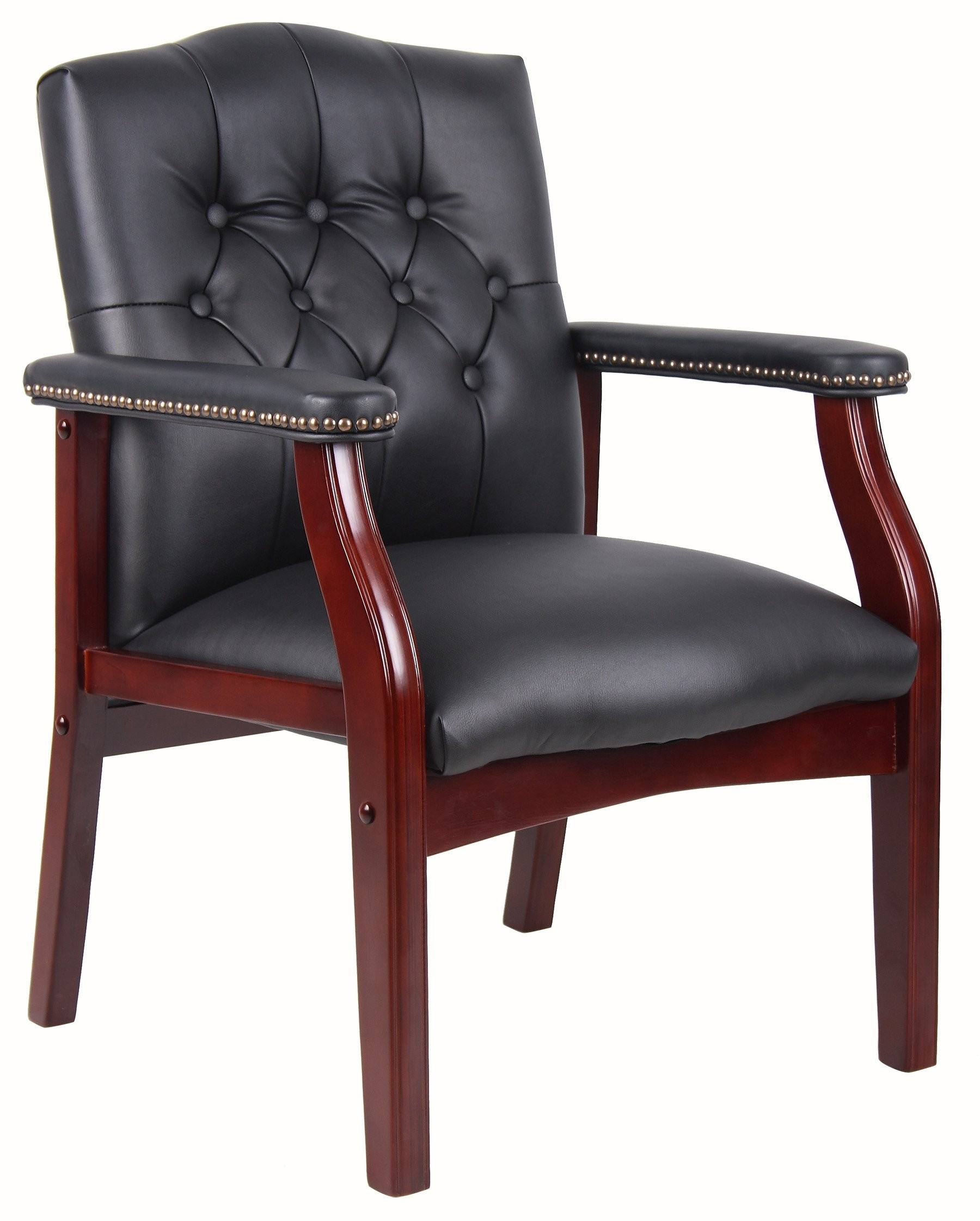 Boss Traditional Black Caressoft Guest Chair Black