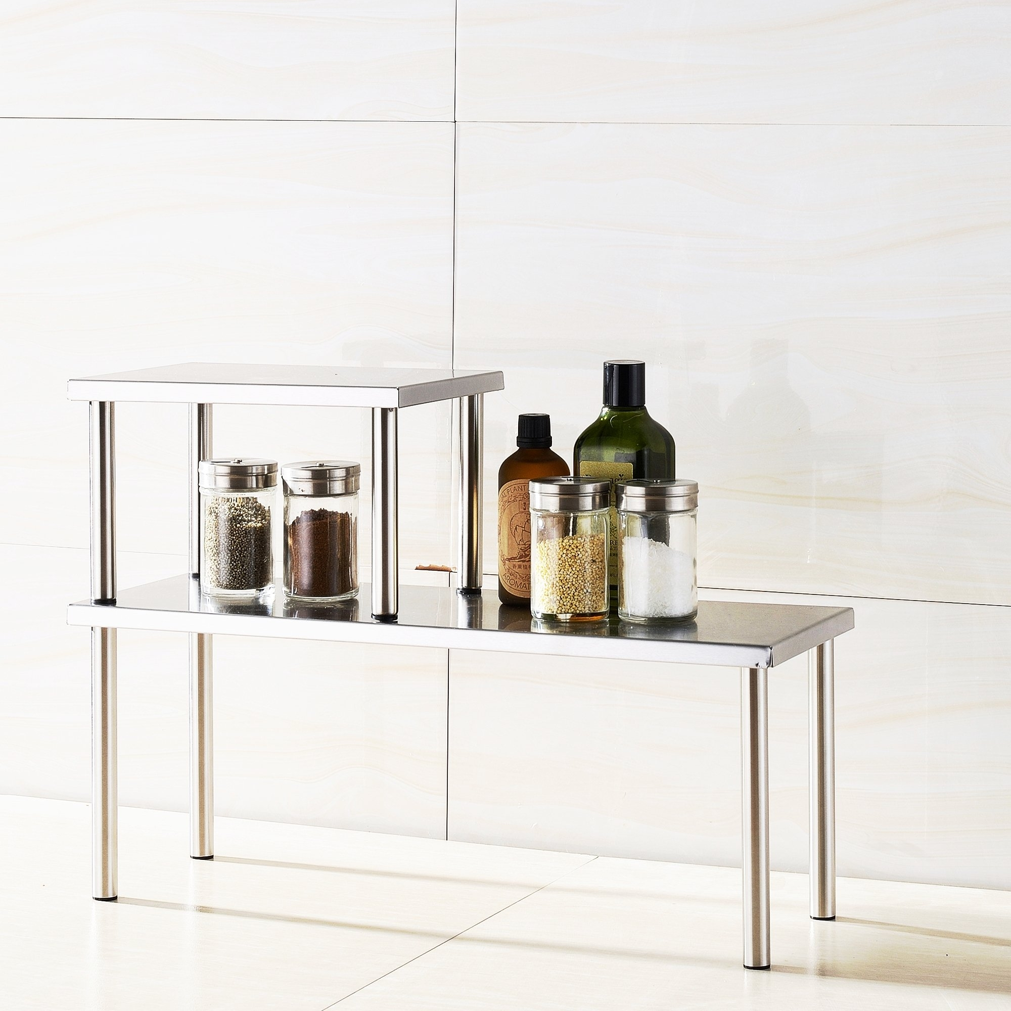 Merveilleux Cook N Home 2 Tier Counter Storage Shelf, Stainless Steel