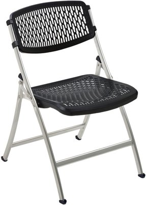 Flex One Folding Chair, Black/Gray, 4-Pack