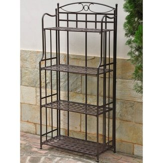 Santa Fe Nailhead Iron 4-Tier Bakers Rack