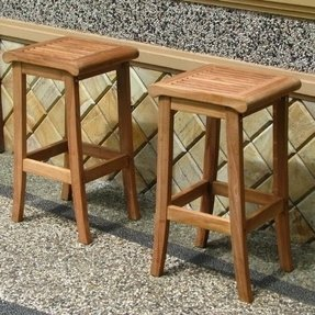 New Grade A Teak Wood Bar Stool Chair
