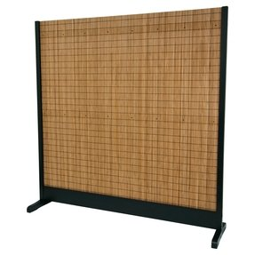 Oriental Furniture Extra Strong, Substantial, Shade Barrier, 76-Inch Tall Take Japanese Style Single Panel Partition Room Divider, Black