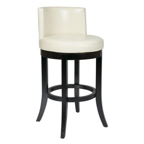 OSP Designs Metro Swivel Eco Leather Barstool, Cream