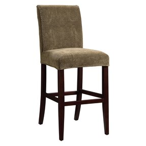 Powell Slip-Over Cover for Bar or Counter Stools - Brown & Tan Chenille