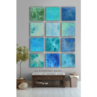 Bold custom abstract painting 12 square
