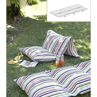 Outdoor floor pillows