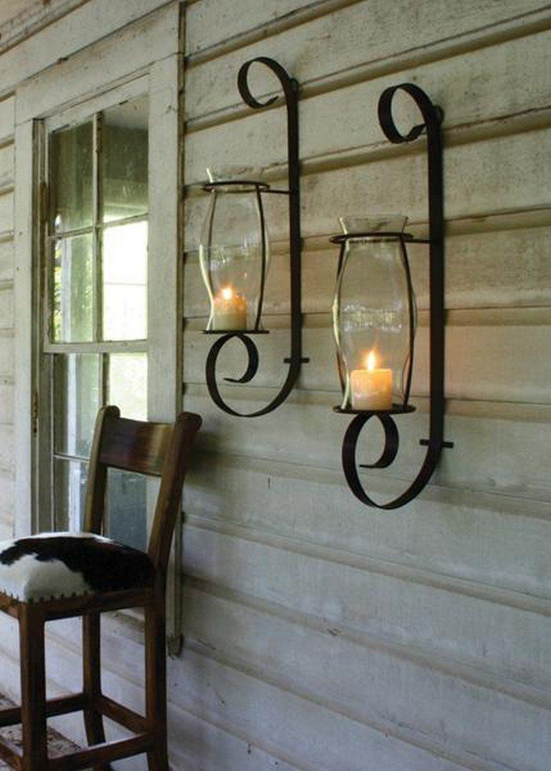 Silver Candle Wall Sconces