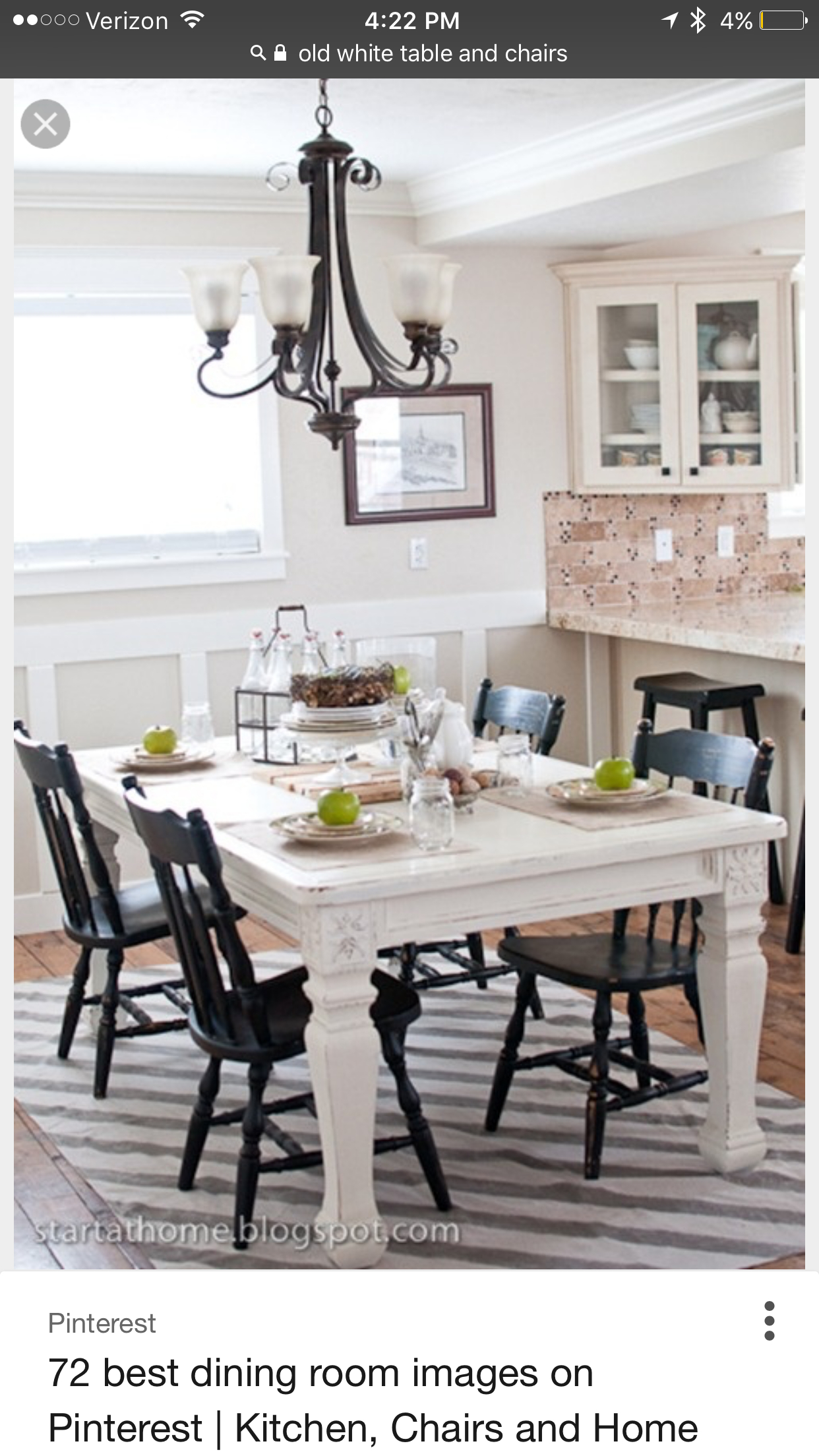 Superieur White Distressed Kitchen Table