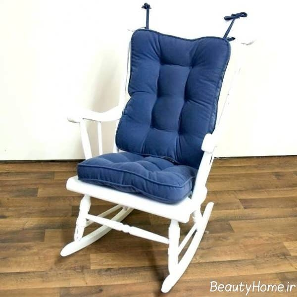 Greendale Home Fashions Standard Rocking Chair Cushion Hyatt Fabric, Denim