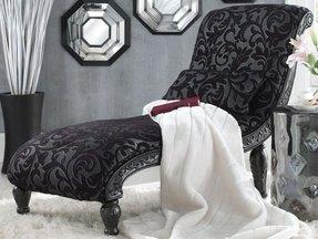 Black Velvet Chaise Lounge Foter