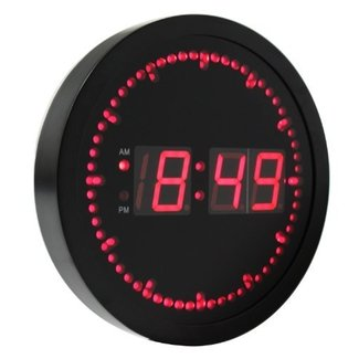 Ehealthsource Digital Led Wall Clock With Circling Second Indicator Round Shape 10