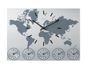 Karlsson Wall Clock Worldtime Aluminum