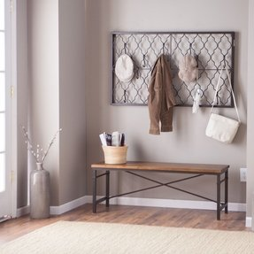 Metal wall mounted coat rack