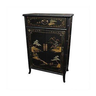 Superieur Oriental Furniture Fine Asian Furniture, 36 Inch Japanese Bamboo Design  Lacquered Oriental Shoe Cabinet