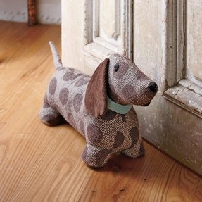 Sausage dog door stop