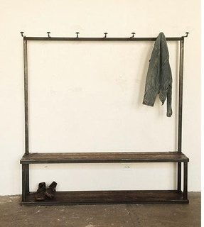 Storage Bench With Shoe Rack