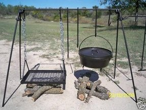 Cast iron outdoor grill
