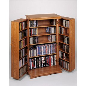 Classic Mission Style Multimedia Cabinet Oak