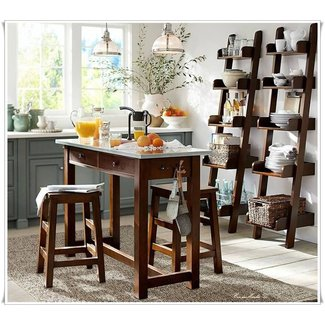 Balboa kitchen island counter height table stools