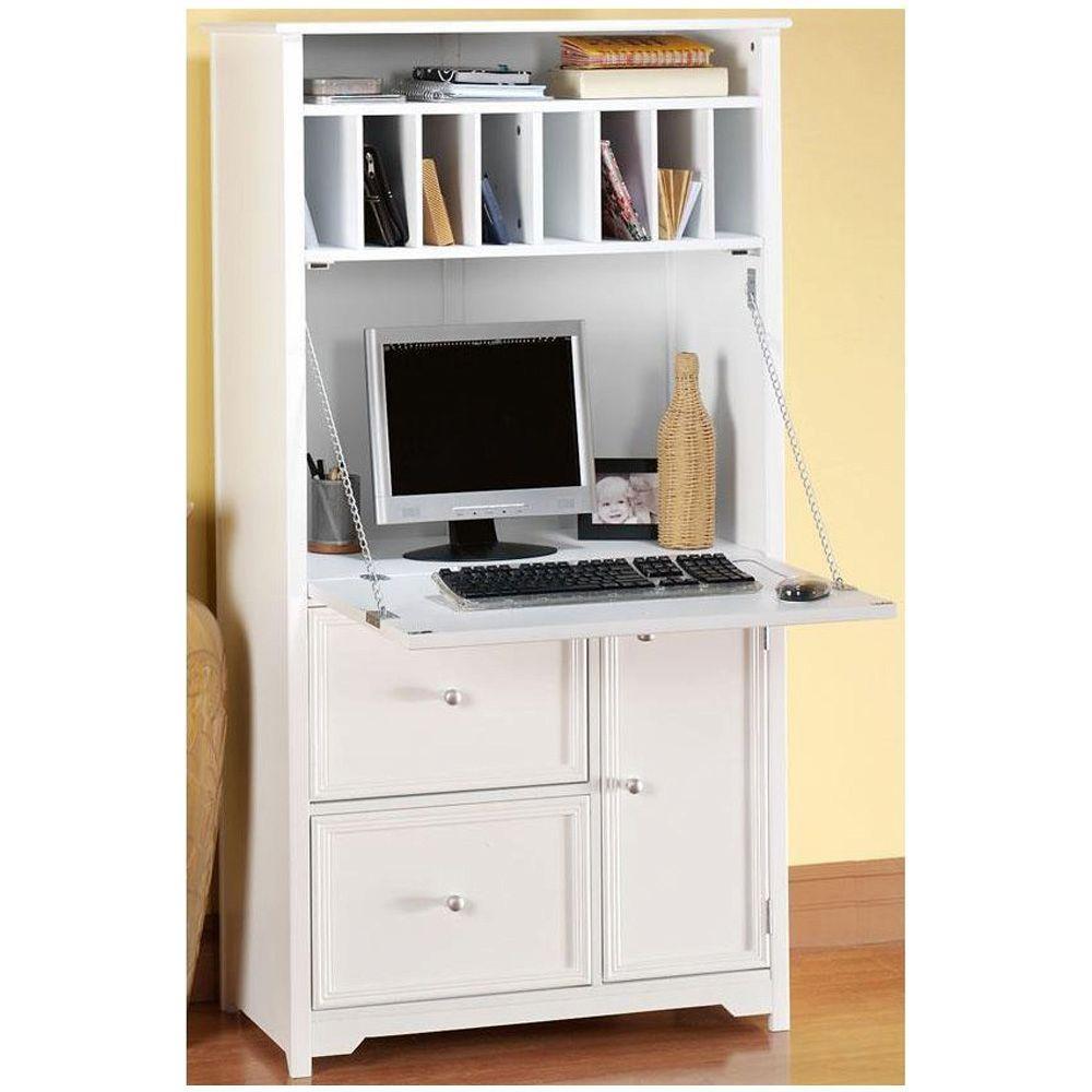 Oxford Tall Secretary Desk Secretary Desks Home Office Furniture Furniture