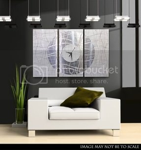 Handcrafted White Metal Abstract Wall