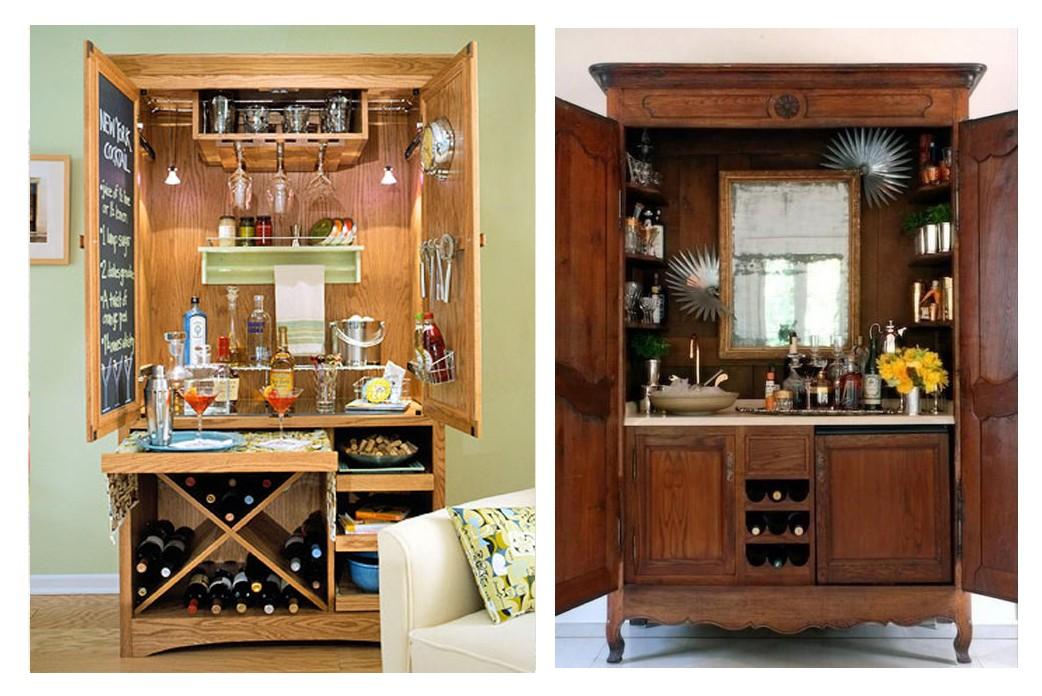 Steamer Trunk Bar Cabinet