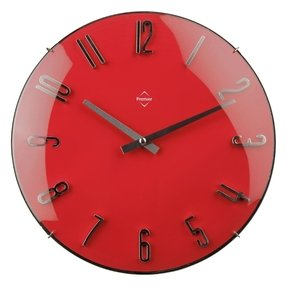 Red and black clock
