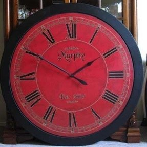 Red wall clock 11