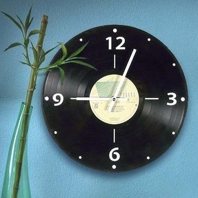 Vintage Vinyl LP Record Wall Clock, 70's/80's Pop Genre
