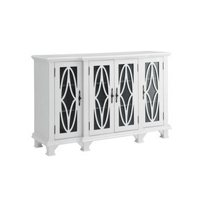 Coaster Cabinet with 4 Glass Doors in White