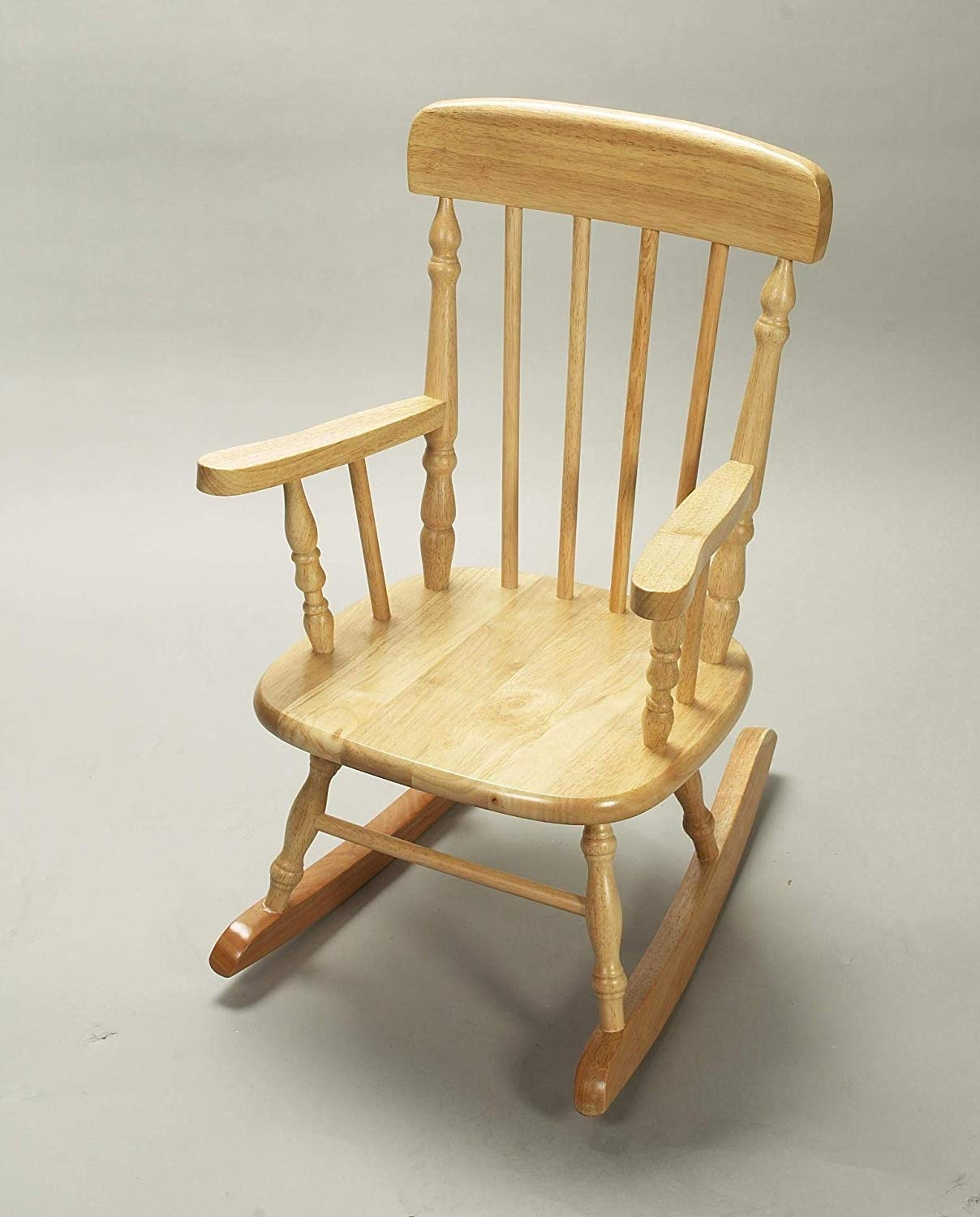 Gift Mark Deluxe Children?s Spindle Rocking Chair, Natural